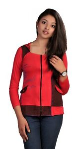Tattopani Ladies Long Sleeve Sinker Jacket with Side Embroidery
