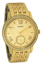 Guess Women's U0573L2 Classic Gold-Tone Watch With Genuine Crystals