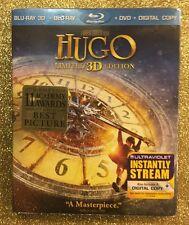 Hugo 3D (Blu-ray 3D/Blu-ray/DVD/Digital Copy; Limited Ed, 2012) NEW w/ Slipcover
