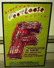 SIGNED CAST POSTER FOOTLOOSE BROADWAY'S MUSICAL DOUG JOHNSON 1998 ART FRAMED