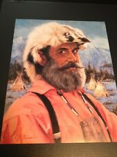 "Mountain Man Large 16"" X 20"" Picture Print New In Lithograph"