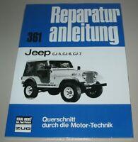 Reparaturanleitung Jeep CJ-5 / CJ-6 / CJ-7 / 1954 - 1986 Reparatur Buch NEU!