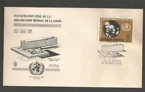 ARGENTINA - 1966 Inaugauration of W.H.O. Headquarters, Geneva -. FD COVER.