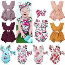 Infant Baby Girl Floral Romper Bodysuit Jumpsuit Casual Playsuit Outfit Clothes