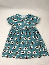 hanna andersson girls dress 120 Light Blue Floral Pattern