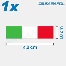 1x ADESIVI BANDIERA ITALIA (N. 097) ITALIAN FLAG STICKER ITALIA ITALY 4,0x1,0cm