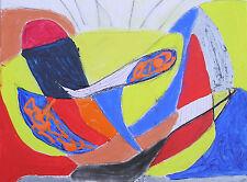 Música Popular 65% de descuento Nigel aguas original pintura abstracta técnica mixta