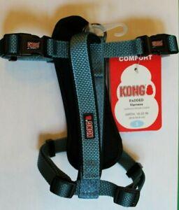 "KONG Comfort Dog Harness SMALL NEW Padded 16-22"" Girth BLUE **FREE SHIPPING**"