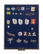 Sammelboxen für Pins/orden/abzeichen Lindner 2459 Rauchglas / blaue Einlage
