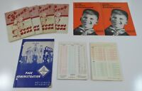 Lot of Vintage Boy Scout Song Guide Books Pack Administration Booklet Checklist