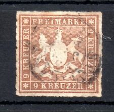 German States Wurttemberg 1865 9kr Arms good used MI#33 WS13743