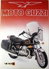 Moto Guzzi v65c-Motocicleta folleto de ventas - 1983 - #printed en Italia 11/83