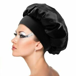 YANIBEST Bonnet de Nuit en Satin pour Cheveux boucl/és Bonnet Souple et Bonnet en Soie Bonnet de Nuit doubl/é de Soie pour Femme