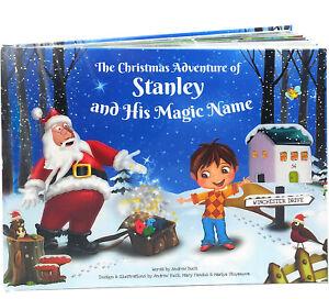 Personalised Xmas Story Book for Kids - Santa Claus  - HARDBACK, Premium Quality