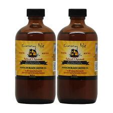 "Sunny Isle Jamaican Black Castor Oil Regular 8 oz ""Pack of 2"""