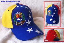 VENEZUELA TRICOLOR  FLAG UNISEX GORRA HAT / CAP TOP QUALITY EMBROIDERED. !!!