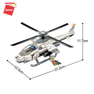 Qman Military Airplane Classic Missile System Intelligent Model Blocks Cars Toys