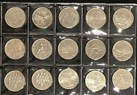 Australian 20 Cent 20c commemorative coin collection x 15 coins EF