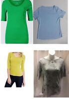 Ladies EX M&S T Shirts 3/4 Sleeve& Half Sleeve & Short Sleeve Ex Chain Store6-22