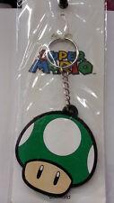 Nintendo Super Mario Bros. Green Mushroom Rubber Key Chain New L@@K Original