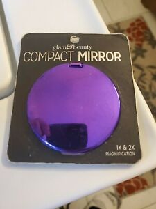 Glam & Beauty Compact Mirror 1x & 2x Magnification