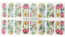 Nail Patch WATER TRANSFER Stickers(107)-Nail Art Decorazione Unghie-Fiori Colora