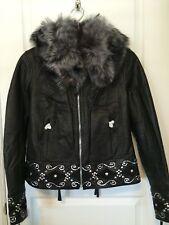 Harley-Davidson Krystle Leather Jacket w/ Fox Fur Collar Women's LARGE