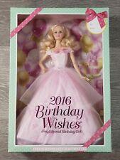 2016 Birthday Wishes Barbie Collector Pink Label Doll Mattel #DGWG29 NIB