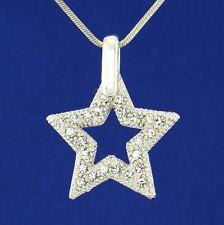 Dazzling Star Wish W Swarovski Crystal New Pendant Necklace Charm Chain Necklace
