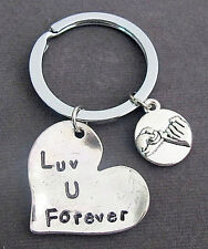 Love you forever keychain With Pinky Promise, Couples keychain, Couple Jewelry,