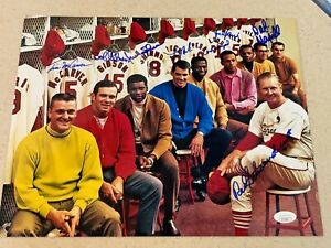1968 St. Louis Cardinals Million Dollar team signed 11x14 * JSA * signed by 8