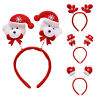 Cy_ Christmas Antler Santa Claus Headband Hair Hoop Kids Adult Party Headwear Ch