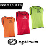 Optimum Football Bibs Mesh Training Sports Bibs All Sizes