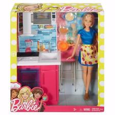 Barbie Doll And Kitchen With Sink-Microwave-Oven And Accessories -New In Box