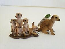 Schleich Tagged Meerkat & 4 Baby Meerkat's figures