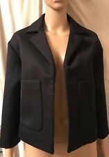 TOPSHOP, UK 10, EUR 38, NAVY BLUE TAILORED BLAZER, 3/4 SLEEVES, BNWT, RRP £103