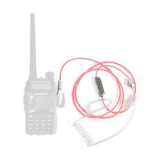 Pink Air tube earpiece for BAOFENG RADIOS UV5R 888S BF-F8+ B5 B6 TGUV2 KGUVD1P