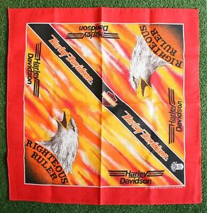 HARLEY DAVIDSON 'Righteous Ruler' RN 16463 Handkerchief Bandanna - Made in USA