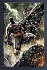 BATMAN RAIN 13x19 FRAMED GELCOAT DC COMICS BRUCE WAYNE ROBIN JOKER GOTHAM CITY!!