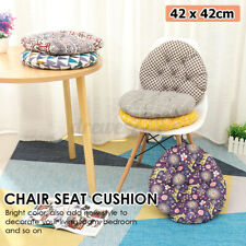 Round Cotton Linen Round Chair Pad Thicker Cushion Office Seat Sofa Floo