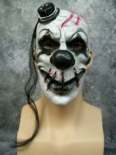 Creepy Scary Clown Mask Fractured Stitched Face Reject Twisted Circus Goth Mime