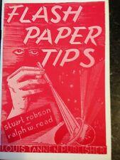 Flash Paper Tips Stuart Robson Ralph W. Read 1976 publication