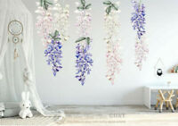 Wisteria Flower Decal Wall Stickers Kids Girls Nursery Decor Gift Art Mural DIY