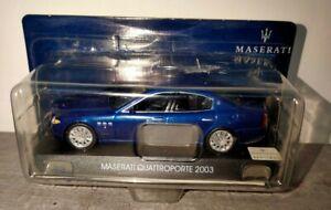 Modellino Maserati Quattroporte 2003 blu 1:43 da collezione model car diecast