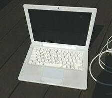 "Apple MacBook 13"" Laptop 2.4GHz 2GB RAM 160GB HD White USED WORKS NEEDS BATTERY"