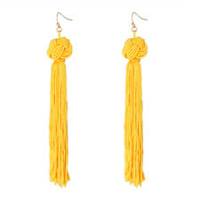 Fashion Women Bohemian Earrings Long Tassel Fringe Dangle Earrings Jewelry FT