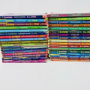 Lot of 34 R.L. Stine Goosebumps  Vintage 1990's Books Scary Horror Tales Rare