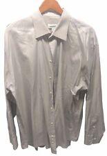 Joseph & Feiss Men's 100% Cotton Long Sleeve Button Shirt Size 17 1/2 34/35 Grey