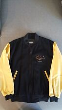 Wayne Gretzky felt and leather jacket by Roger Edwards Sport. Size: Small/Petite