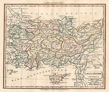 1830 ANCIENT TURKEY CYPRUS ASIA MINOR MAP SOUTER